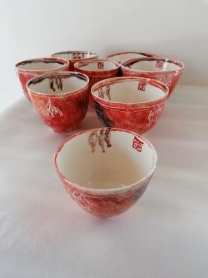 Cuencos de porcelana de la colección