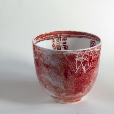 Cuenco de porcelana de la colección de pieza utilitaria
