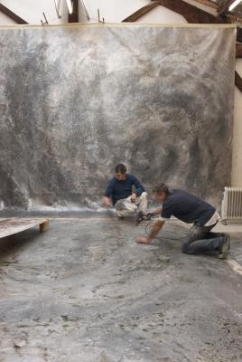 Maison privée, création et réalisation d'un décor sur toile en atelier qui a ensuite été marouflée in situ (2014)
