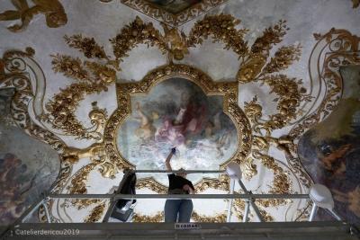 Hôtel Richer de Belleval, dégagement et Montpellier, restauration de décors peints, sculptés et dorés (2017-2020)