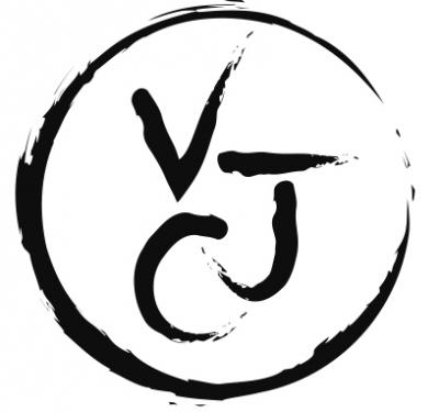 LOGO Véronique JOLY-CORBIN DESSIN A LA PLUME SUR PORCELAINE