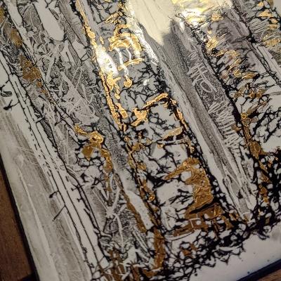 Collection graphique noir, blanc et or les Bouleaux