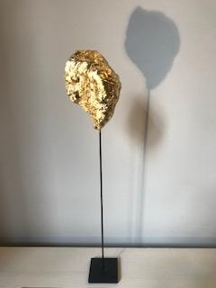 Coquillage véritable doré à la feuille