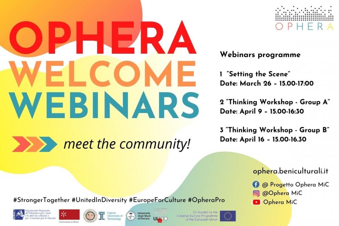 OPHERA WELCOME WEBINARS