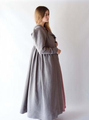 MARIANNE, Regency Pelisse in gray linen