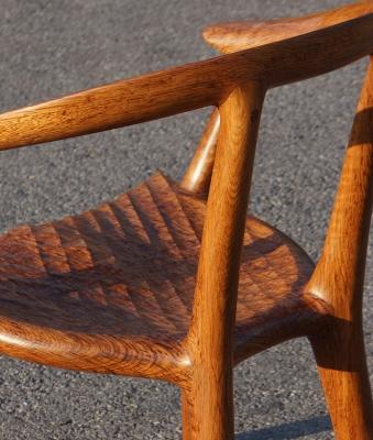 Brown Oak chair detail