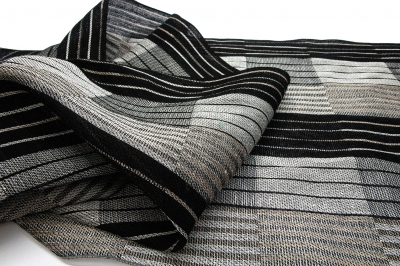 Scarf with squares
