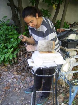 Restauration d'une terre cuite