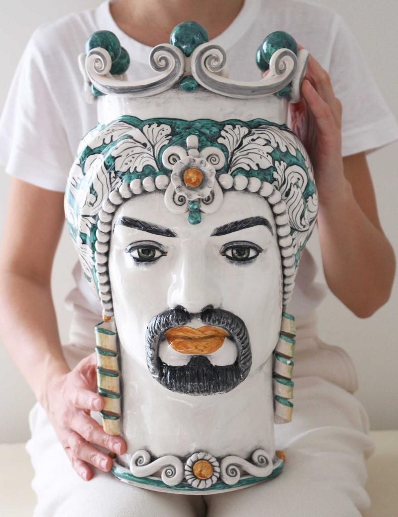 Ceramiche artigianali caltagirone testa di moro