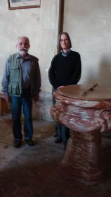 Restauration Fonts baptismaux de Crécy-Couvé